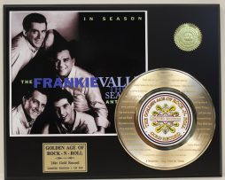 4-SEASONS-FRANKIE-VALLI-GOLD-RECORD-LTD-EDITION-LASER-ETCHED-WITH-SONGS-LYRICS-171369053260