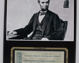 ABRAHAM-LINCOLN-REPRODUCTION-SIGNED-CHECK-COMMEMORATIVE-DISPLAY-FREE-SHIPPING-182140279750