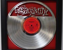 Aerosmith-Framed-Laser-Cut-Platinum-Vinyl-Record-in-Shadowbox-Wallart-172386219660