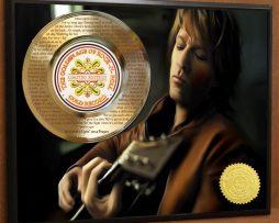 BON-JOVI-LASER-ETCHED-WITH-LYRICS-TO-LIVIN-ON-A-PRAYER-POSTER-ART-GOLD-RECORD-181466475100