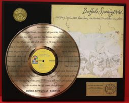 BUFFALO-SPRINGFIELD-LTD-EDITION-GOLD-LP-RECORD-LASER-ETCHED-W-LYRICS-TO-THE-SONG-170926713960