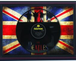 Beatles-Help-Cherry-Framed-Laser-Cut-Black-Vinyl-Record-Flag-K1-182283858310