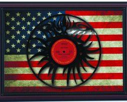 Bob-Dylan-Eye-Logo-Hwy-61-Cherry-Framed-Laser-Cut-Black-Vinyl-Record-Flag-K1-182283872850