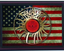 Bob-Dylan-Eye-Logo-Hwy-61-Cherry-Framed-Laser-Cut-Gold-Record-Flag-K1-182283834580