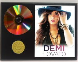 DEMI-LOVATO-LIMITED-24kt-GOLD-CD-DISC-COLLECTIBLE-AWARD-QUALITY-DISPLAY-171349780410