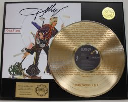 DOLLY-PARTON-9-TO-5-EDITION-GOLD-LP-RECORD-LASER-ETCHED-W-LYRICS-171368370580