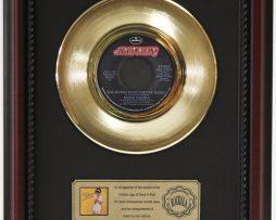 DONNA-SUMMER-SHE-WORKS-HARD-GOLD-RECORD-CUSTOM-FRAMED-CHERRYWOOD-DISPLAY-K1-172164200020