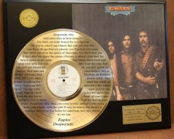 EAGLES-LIMITED-EDITION-GOLD-LP-RECORD-LASER-ETCHED-W-LYRICS-TO-DESPERADO-170928689610
