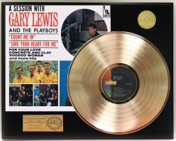 GARY-LEWIS-2-GOLD-LP-LTD-EDITION-RECORD-DISPLAY-AWARD-QUALITY-COLLECTIBLE-181308835370