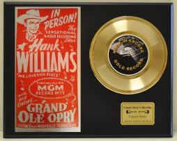 HANK-WILLIAMS-SR-LTD-EDITION-CONCERT-POSTER-SERIES-GOLD-45-DISPLAY-SHIPS-FREE-171145209340