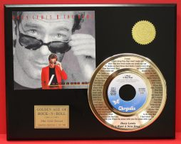 HUEY-LEWIS-THE-NEWS-24kt-GOLD-45-FREE-SHIPPING-LTD-EDITION-UNIQUE-MUSIC-GIFT-181021341570
