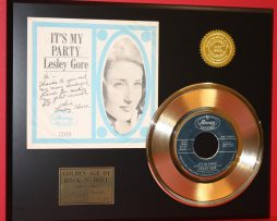 LESLEY-GORE-RARE-GOLD-45-RECORD-ITS-MY-PARTY-LTD-EDITION-ONLY-500-MADE-181145667580