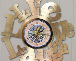 LIVE-LOVE-LAUGH-LASER-CUT-GOLD-PLATED-LP-RECORD-WALL-CLOCK-FREE-SHIPPING-171960618000
