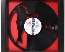 Michael-Jackson-Bad-Framed-Laser-Cut-Black-Vinyl-Record-in-Shadowbox-Wallart-172386199530