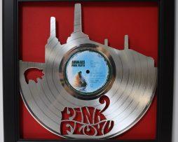 Pink-Floyd-Animal-LP-Framed-Laser-Cut-Platinum-Vinyl-Record-in-Shadowbox-Wallart-182337060070