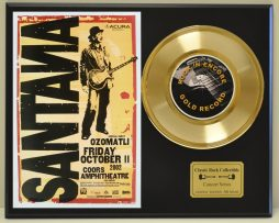 SANTANA-CARLOS-LTD-EDITION-CONCERT-POSTER-SERIES-GOLD-45-DISPLAY-SHIPS-FREE-2-181234536860