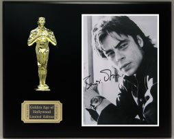 BENICIO-DEL-TORO-Reproduction-Signed-8-x-10-Photo-LTD-Edition-Oscar-Display-181826921071