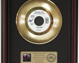 BILLY-IDOL-MONY-MONY-GOLD-RECORD-CUSTOM-FRAMED-CHERRYWOOD-DISPLAY-K1-172164181741