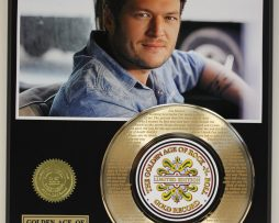 BLAKE-SHELTON-GOLD-RECORD-LIMITED-EDITION-LASER-ETCHED-WITH-SONGS-LYRICS-171368183131