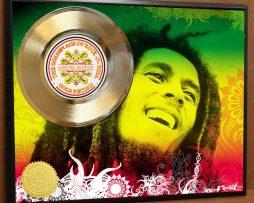 BOB-MARLEY-LTD-EDITION-REGGAE-POSTER-ART-GOLD-RECORD-MUSIC-MEMORABILIA-FREE-SHIP-170939788001