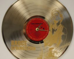 BRUCE-SPRINGSTEEN-LASER-ETCHED-GOLD-PLATED-VINYL-LP-RECORD-WALL-CLOCK-FREE-SHIP-171958007891