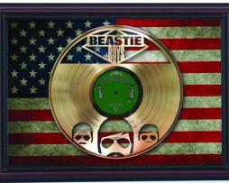 Beastie-Boys-Sabatoge-Cherry-Framed-Laser-Cut-Gold-Record-Flag-K1-172344592211