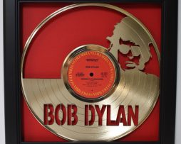 Bob-Dylan-Framed-Laser-Cut-Gold-Plated-Vinyl-Record-Shadowbox-Wallart-172387405661