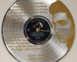 ELVIS-PRESLEY-2-ETCHED-PLATINUM-PLATED-LP-RECORD-WALL-CLOCK-FREE-SHIPPING-181898789841