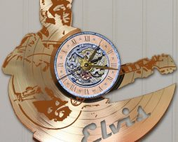 ELVIS-PRESLEY-LASER-CUT-GOLD-PLATED-LP-RECORD-WALL-CLOCK-FREE-SHIPPING-171958036231