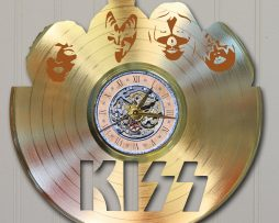KISS-LASER-CUT-GOLD-PLATED-LP-RECORD-WALL-CLOCK-FREE-SHIPPING-171960614211
