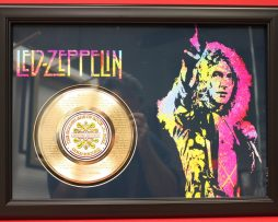 LED-ZEPPELIN-LARGE-FRAMED-24kt-GOLD-CLAD-45-RECORD-DISPLAY-FREE-US-SHIPPING-170949746451