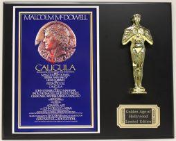 MALCOLM-McDOWELL-CALIGULA-LTD-EDITION-OSCAR-MOVIE-DISPLAY-FREE-SHIPPING-181467148311