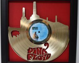 Pink-Floyd-Animals-Shadowbox-Framed-Laser-Cut-Gold-LP-Display-USA-Ships-Free-172402807521