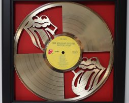 Rolling-Stones-Framed-Laser-Cut-Gold-Plated-Vinyl-Record-Shadowbox-Wallart-182330551271