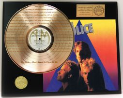 THE-POLICE-GOLD-LP-RECORD-DISPLAY-LASER-ETCHED-W-LYRICS-OF-HIT-SONG-SHIPS-FREE-181304398241