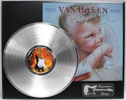 VAN-HALEN-1984-PLATINUM-LP-LIMITED-EDITION-REPRODUCTION-SIGNATURE-RECORD-DISPLAY-172076429151