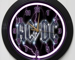 ACDC-15-PURPLE-NEON-ROCK-N-ROLL-WALL-CLOCK-K1-182147351332