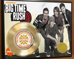 BIG-TIME-RUSH-LTD-EDITION-POSTER-ART-GOLD-RECORD-DISPLAY-FREE-SHIPPING-171451418862