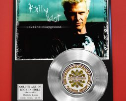 BILLY-IDOL-PLATINUM-RECORD-LIMITED-EDITION-RARE-COLLECTIBLE-MUSIC-DISPLAY-170851820232