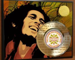 BOB-MARLEY-ETCHED-WITH-LYRICS-TO-GET-UP-STAND-UP-POSTER-ART-GOLD-RECORD-171387559932