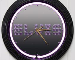 ELVIS-PRESLEY-3-15-PURPLE-NEON-ROCK-N-ROLL-WALL-CLOCK-K1-172219422592