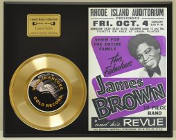JAMES-BROWN-LTD-EDITION-CONCERT-POSTER-SERIES-GOLD-45-DISPLAY-SHIP-US-FREE-181339045092