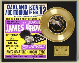 JAMES-BROWN-LTD-EDITION-CONCERT-POSTER-SERIES-GOLD-45-DISPLAY-SHIPS-FREE-181234593222