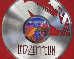 LED-ZEPPELIN-LASER-CUT-PLATINUM-PLATED-LP-RECORD-WALL-CLOCK-FREE-SHIPPING-181899183442