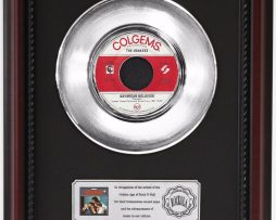 MONKEES-DAYDREAM-BELIEVER-PLATINUM-FRAMED-RECORD-CHERRYWOOD-DISPLAY-K1-172204450912