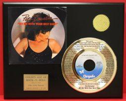 PAT-BENATAR-24kt-GOLD-45-RECORD-FREE-SHIPPING-LTD-EDITION-UNIQUE-MUSIC-GIFT-181021343192
