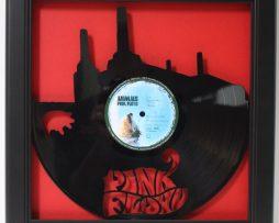 Pink-Floyd-Animal-Framed-Laser-Cut-Black-Vinyl-Record-in-Shadowbox-Wallart-182327952132
