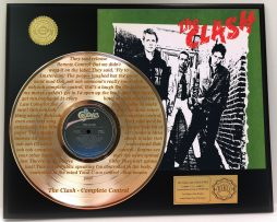 THE-CLASH-GOLD-LP-RECORD-LASER-ETCHED-W-LYRICS-TO-COMPLETE-CONTROL-181304391592
