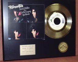 THE-ROMANTICS-LTD-EDITION-GOLD-45-RECORD-SLEEVE-ART-DISPLAY-171361773562