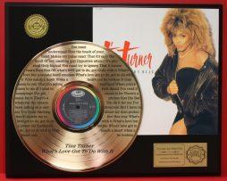 TINA-TURNER-LTD-EDITION-GOLD-LP-RECORD-LASER-ETCHED-W-LYRICS-WHATS-LOVE-GOT-170941159532